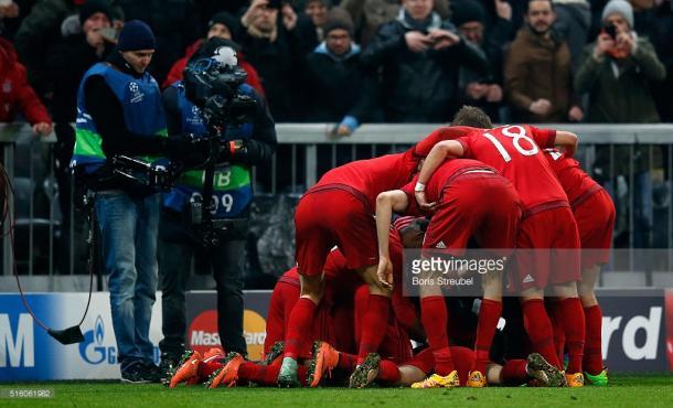 O Bayern conseguiu recuperar o jogo e garantir a passagem já no prolongamento