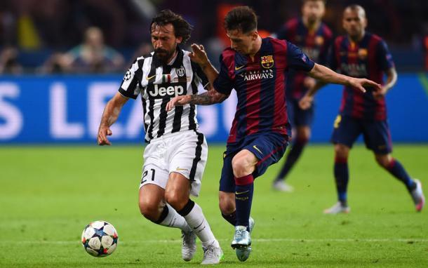 Andrea Pirlo e Leo Messi