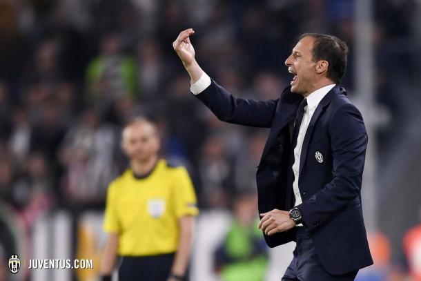 Allegri dirigiendo a la Juve | Foto: Juventus