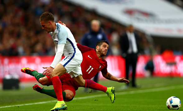 Vardy, currently on international duty with England, was ineffective against Portugal on Thursday - largely as teammates failed to play to his strengths. | Photo: Getty
