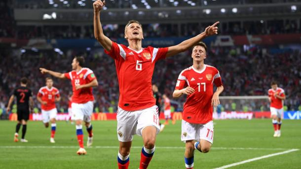 Denis Cheryshev put the hosts ahead with a great goal | Source: Getty Images via FIFA.com