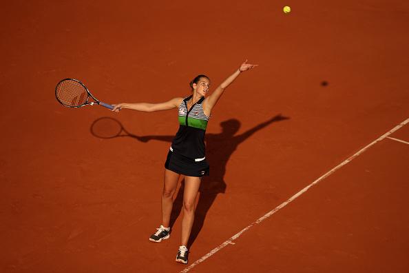 Pliskova's serve bailed her out of trouble (Photo by Julian Finney / Getty)