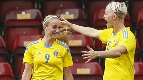 Asllani has experience with Sweden at international level too. | Photo: Manchester City WFC