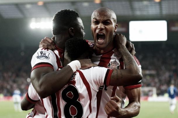 Kaboul and Kone's partnership at the heart of defence helped guide Sunderland to safety last season. (Photo: Daily Mirror)