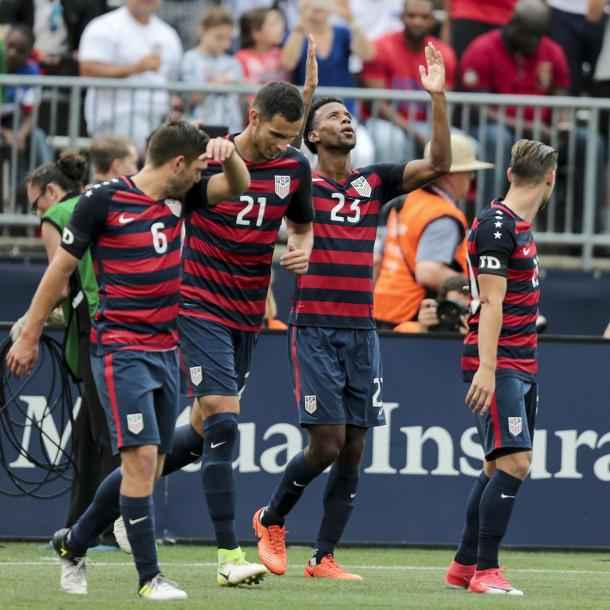 Kellyn Acosta made it 2-0 for the USMNT in the second half. | Photo: US Soccer