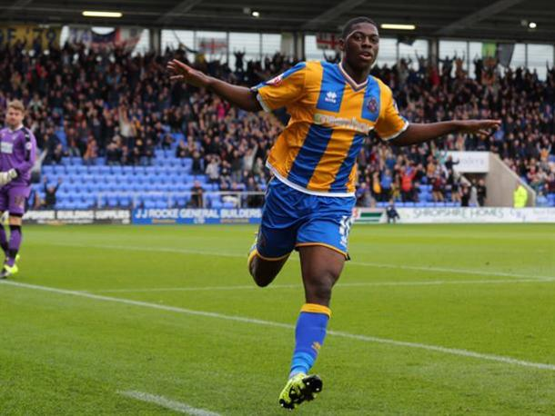 Kaikai (pictured) and Gray have enjoyed valuable first team experience in the Football League (Photo: Shrewsbury Town FC)