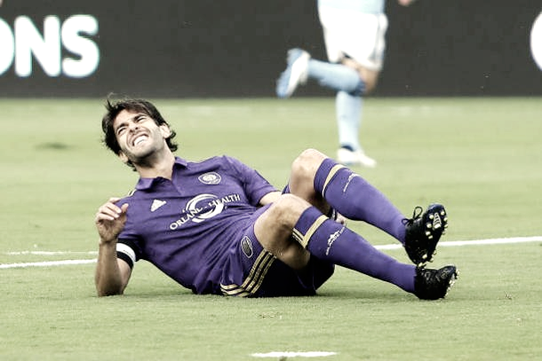 Kaká has suffered multiple injuries during his spell in Major League Soccer. | Photo: Alex Menendez/Getty Images
