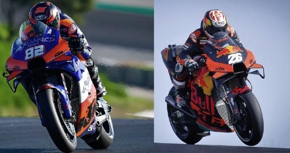 Mika Kallio y Dani Pedrosa en pista. Foto: motogp.com