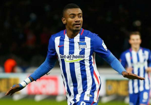With 12 goals in 24 games this season, the form of Soloman Kalou has been pivotal to Hertha's success (Source: Goal.com)