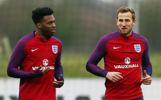 England colleagues Daniel Sturridge and Harry Kane could battle it out for the Golden Boot (photo: FA)