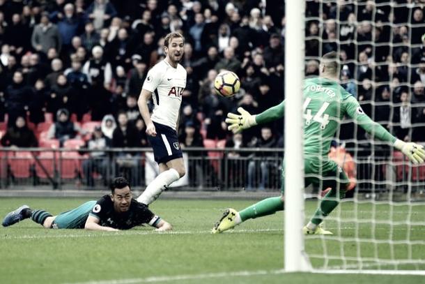 Harry Kane marcó tres goles en el último partido | Foto: Premier League