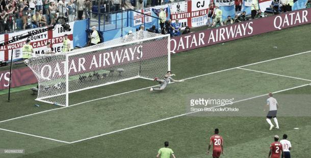 Kane convierte un penalti frente a Panamá / Fuente: Getty Images