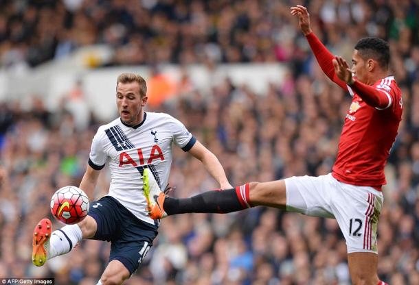 The striker in action on Sunday (photo: Getty)