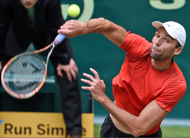Negotiating Karlovic's huge serve will be tough on the grass courts of Halle (Photo: Getty Images/Thomas Starke)