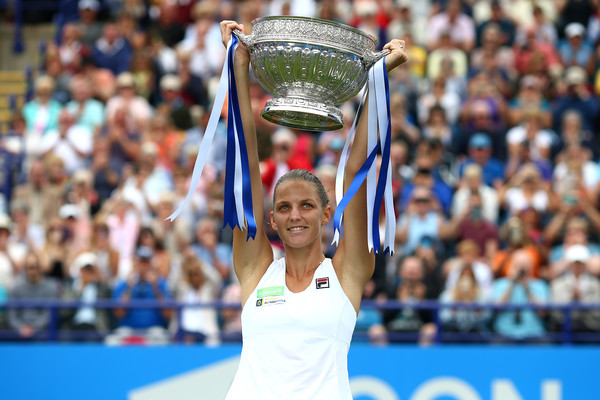 Pliskova lifted her biggest grass court title in Eastbourne heading into Wimbledon (Photo by Charlie Crowhurst / Getty)