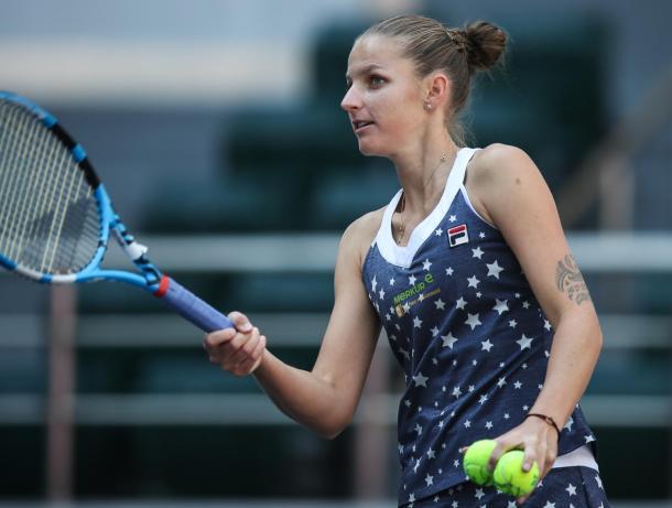 Karolina Pliskova moved into the quarterfinals of the Tianjin Open   Photo: WTA