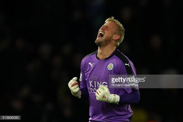 Schmeichel has impressed for Leicester since arriving at the King Power Stadium in 2011   Photo: Getty/ Richard Heathcote