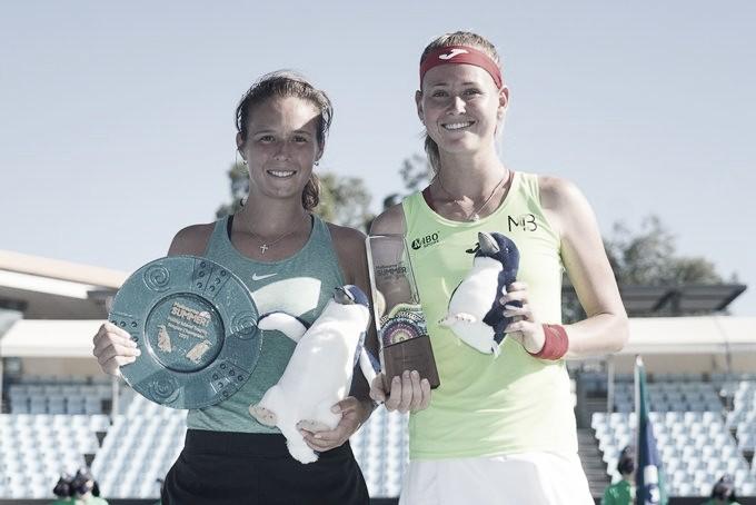 Las finalistas tras la ceremonia final. Foto: WTA