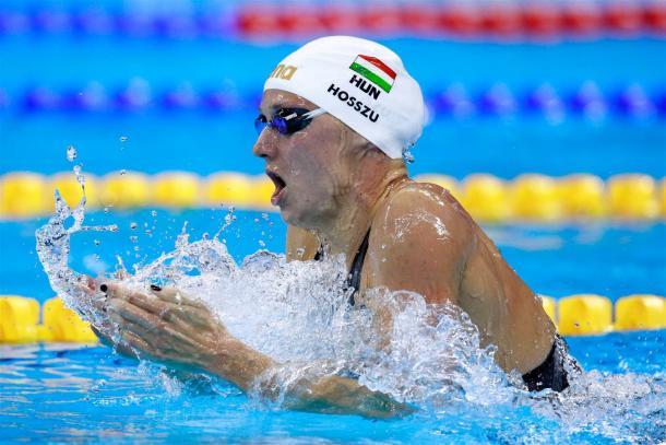 Katinka Hosszu durante a prova dos 400m medley, onde foi medalhista de ouro (Foto: Adam Pretty/Getty Images)