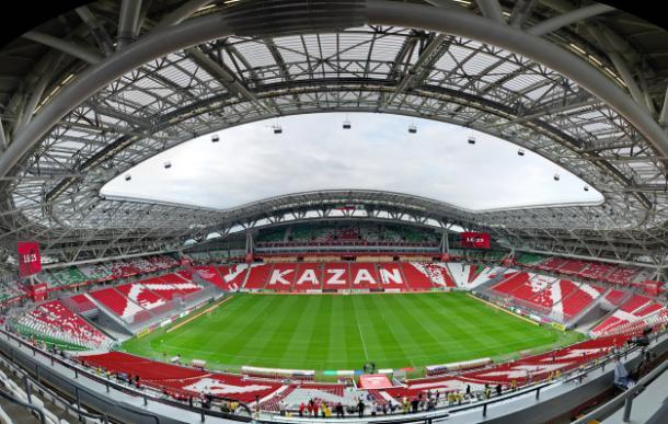 A Arena de Kazan é uma das quatro prontas para o mundial. (Foto: Divulgação/fifa)