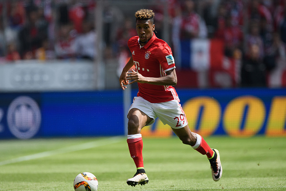 Coman in Bayern's final fixture of the Bundesliga campaign last term. | Photo: Getty
