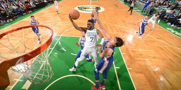 Jaylon Brown in action in Game 5 at TD Garden. Photo: Boston Celtic/ Twitter