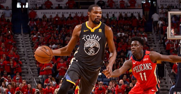 Kevin Durant in azione - Foto Warriors Twitter