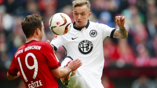 Kitten saw chances hard to come by with Eintracht | Credit: Heiko Rhode