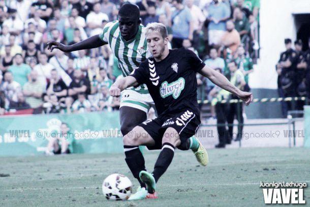 Keko Gontán, en un partido con el Albacete. | Foto: Juan Ignacio Lechuga (VAVEL).