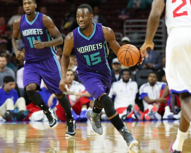 Kemba Walker and the Charlotte Hornets took some by surprise as they lost key players but that didn't seem to hurt them. Photo: Bill Streicher-USA TODAY Sports