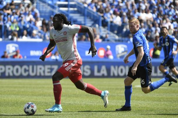 Kenwyne Jones opened his MLS account last weekend vs Montreal. (Source: Eric Bolte-USA Today Sports