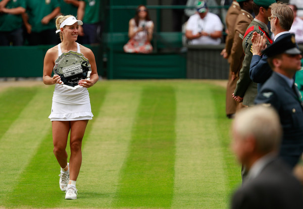 Kerber came up a little short at Wimbledon last year becoming the first German woman since Steffi Graf in 1999 to compete in a SW19 final (Photo by Adam Pretty / Getty)