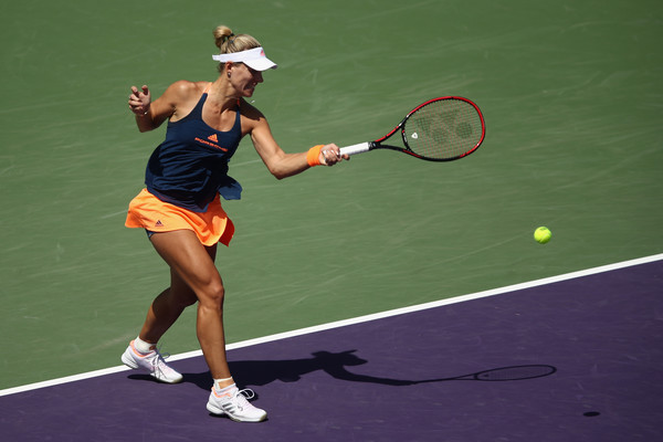 Kerber's results slightly improved in North America at the Miami Open, where she made the quarterfinals (Photo by Julian Finney / Getty)
