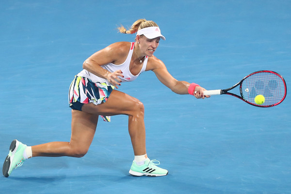 Kerber in her quarterfinal loss to Svitolina  in Brisbane (Photo by Chris Hyde / Getty Images)