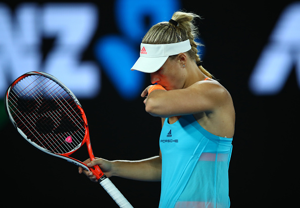 It was a tough day at the office for Kerber (Photo by Clive Brunskill / Getty Images)
