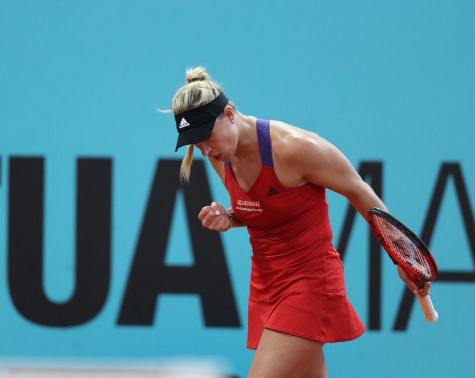 Kerber superou estreia complicada (Foto: Divulgação/Mutua Madrid Open)
