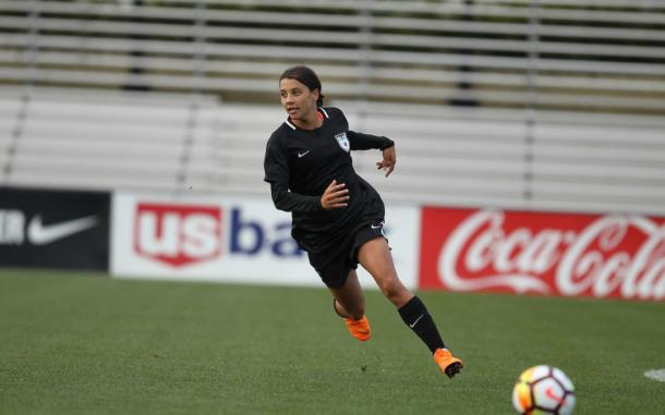Sam Kerr during preseason | Photo: Chicago Red Stars
