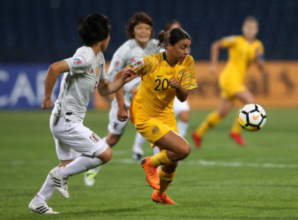 Sam Kerr (20) is poised to play her first match as a Chicago Red Star on Saturday night after spending the beginning of the season in Jordan helping her team qualify for the 2019 WWC. | Photo: Francois Nel - Getty Images