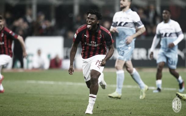 Kessié celebra su tanto / Foto: Twitter AC Milan