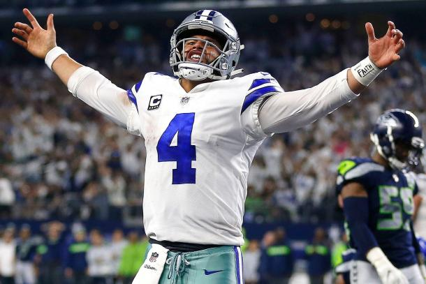Prescott en el Wildcard game 2019 | Foto: Inside The Star