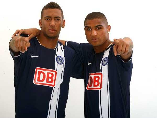 Jerome (izquierda) y Kevin Prince (derecha) se formaron en las categorías inferiores del Hertha Berlín / Fotografía: taringa.net