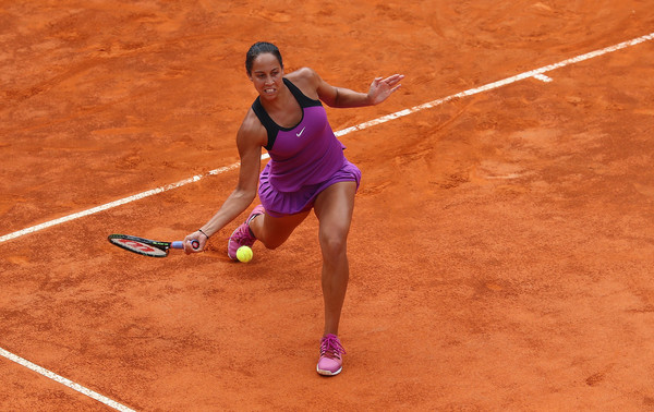 Madison Keys in action against Serena Williams during the Women's Singles Final (Photo by Matthew Lewis/Getty Images)
