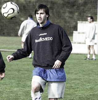 Lanzarote, entrenando con el Real Oviedo | Foto: Diario La Nueva España