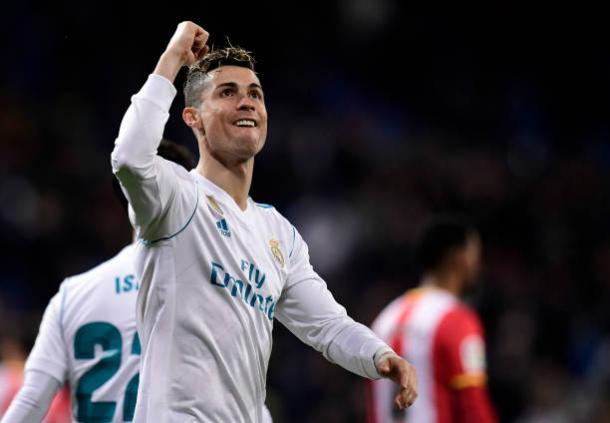 Cristiano comemora seu terceiro gol   Foto: Javier Soriano/AFP/Getty Images