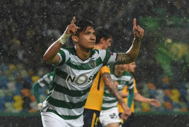 Montero comemorando seu gol | Foto: Francisco Leong/Getty Images
