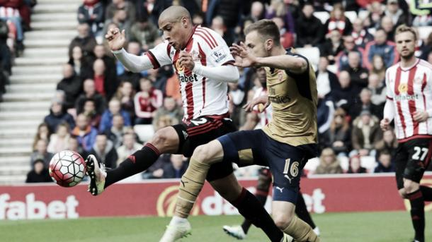 Khazri showed a fantastic work ethic over the course of 90 minutes. (Photo: Sunderland AFC)