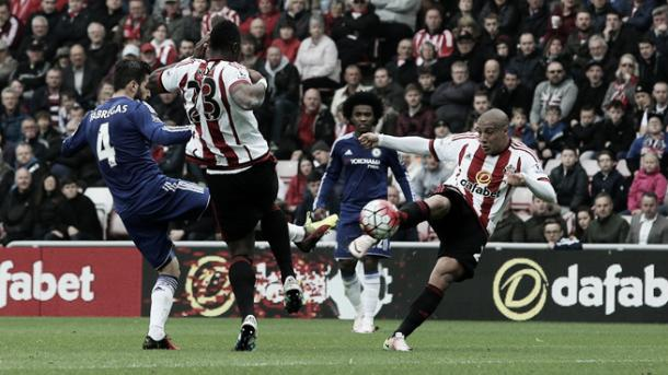 Khazri's stunner was his second in a red and white shirt, and is one he won't forget in a hurry. (Photo: Sunderland AFC)