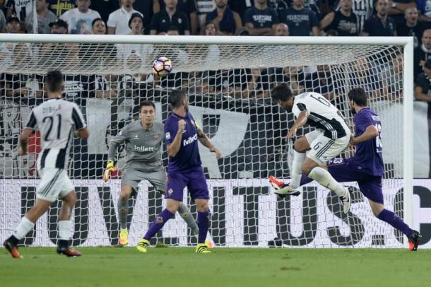 La prima rete stagionale contro la Fiorentina, www.tuttojuve.com