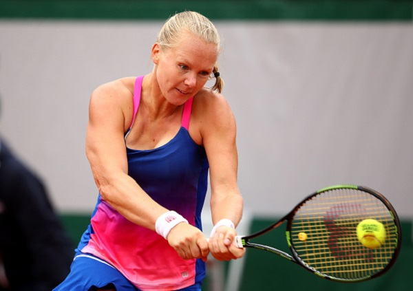Kiki Bertens is through to the second round in Paris where she will meet either the home-favorite Alize Lim or  the Italian Camila Giorgi (credit: Chris Brunskill; Getty images).