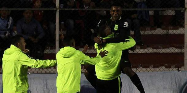 Miguel Borja volvió a marcar y salvar un punto de oro.   Foto: EFE